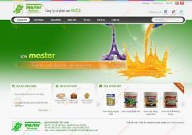 Website giới thiệu Công ty Cổ phần Sơn MASTER