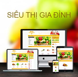 Website thực phẩm Siêu thị Gia Đình