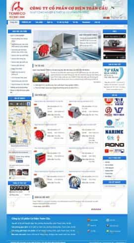 Website quạt công nghiệp TOMECO