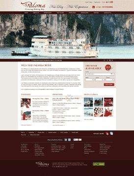 Website du lịch tàu hạ long Paloma