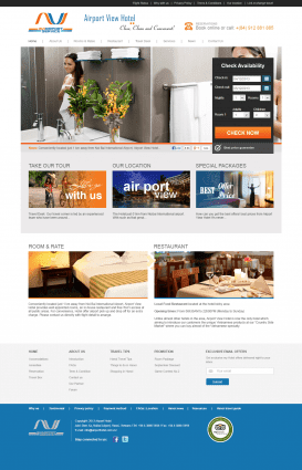 Website khách sạn Airport View Hotel