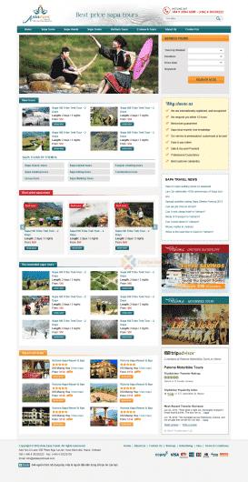 Website du lịch Asia Eyes
