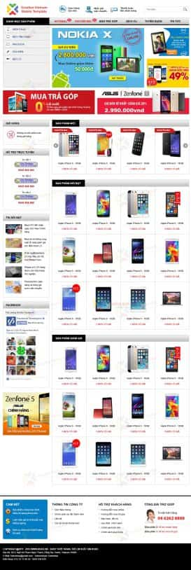 Thiết kế Web điện thoại CV