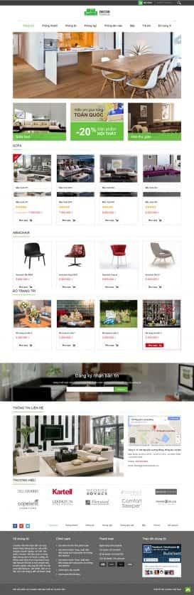 Website đồ gỗ nội thất Decor Furniture