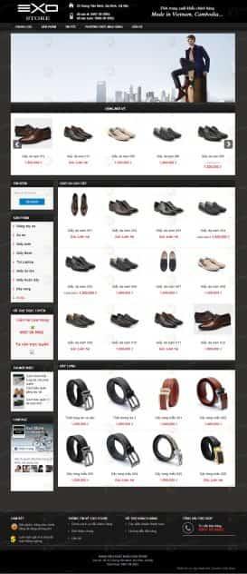 Website giầy da EXO