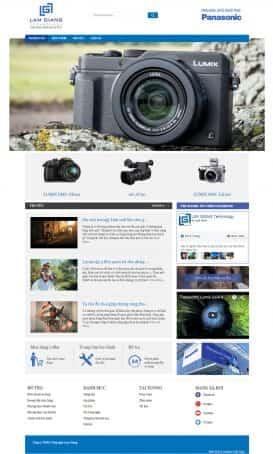 Website Công nghệ máy ảnh Lumix