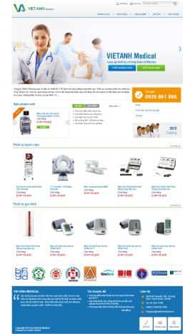 Website thiết bị y tế Việt Anh