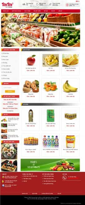 Website Siêu Thị Ten Ten House