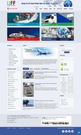 Website dịch vụ giao nhận
