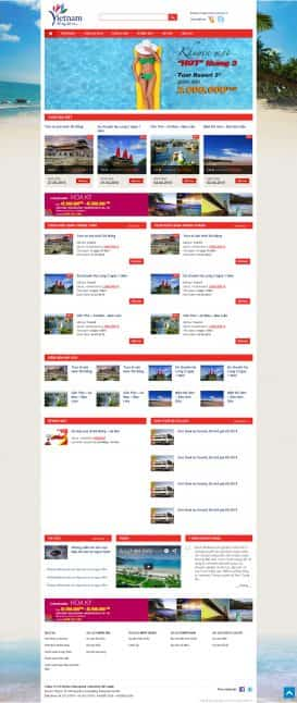 Website du lịch Vietrantour