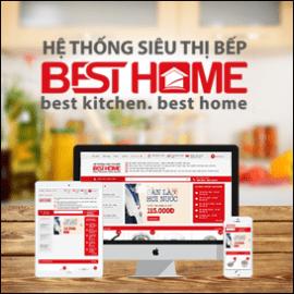 Mẫu thiết kế website siêu thị bếp BestHome