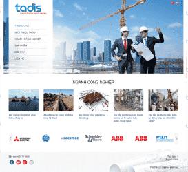 Website Công ty xây lắp Tadis