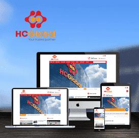 Mẫu website giới thiệu Công ty HC Global
