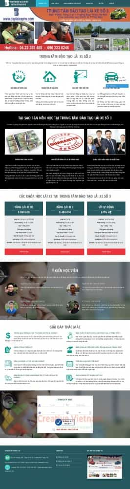 Website Dạy lái xe