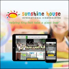 Mẫu website trường mầm non Sunshine House