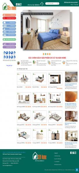Giới thiệu thiết kế website nội thất Sen Home