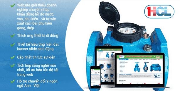 Mẫu giao diện website đồng hồ đo nước