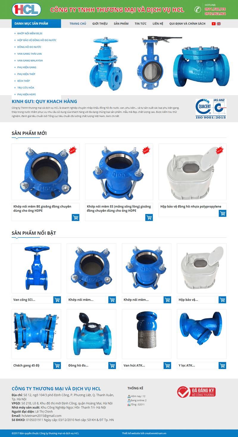 Thiết kế web đồng hồ đo nước HCL