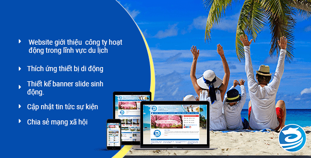 Giao diện thiết kế website du lịch lữ hành Rồng Việt