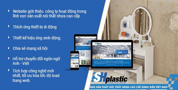 Website sản xuất nội thất nhựa cao cấp