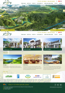 Website Yên Dũng Resort