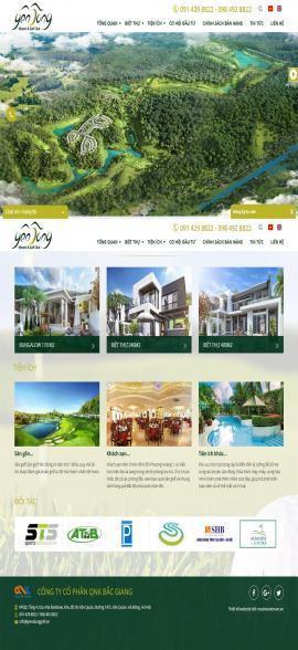 Website Yên Dũng Resort