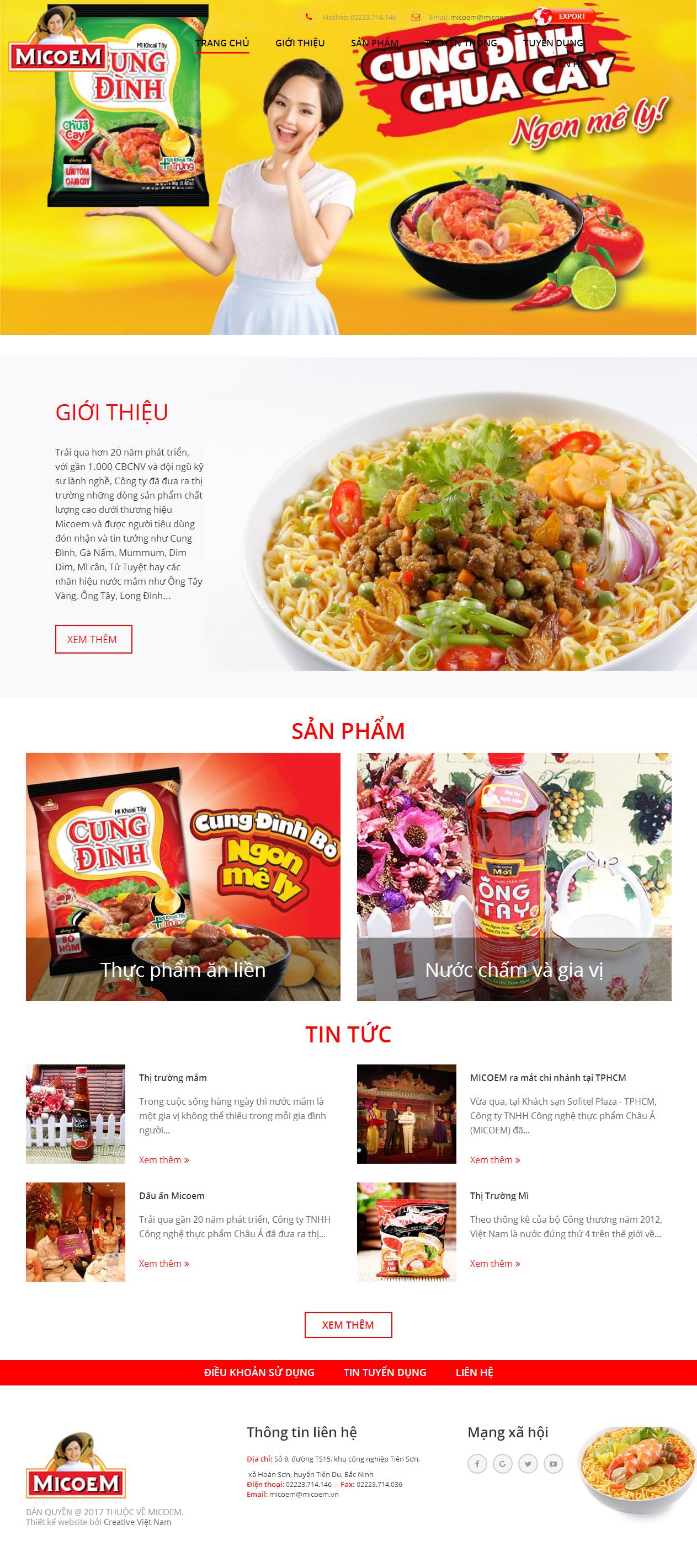 Thiết kế web bán hàng micoem