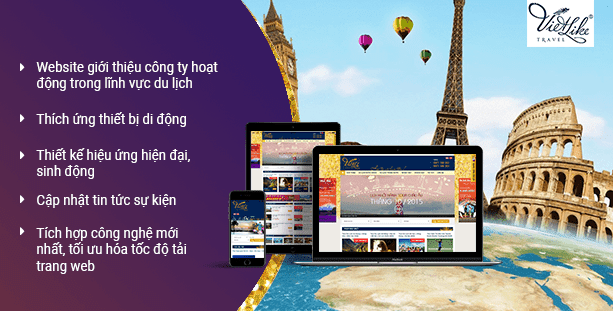 Website du lịch Vietliketravel