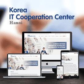 Mẫu website Trung tâm Hợp tác KICC Hàn Quốc