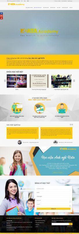 Website Học viện Anh ngữ KATA
