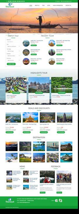 Giao diện thiết kế website Du lịch TIMETRAVEL