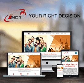 Mẫu website Du học Đông Dương