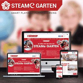 Mẫu website trường mầm non Steame Garten