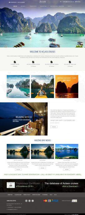 Du lịch Aclasscruises – Mẫu website du lịch đẹp