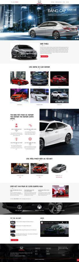Mẫu website oto Honda